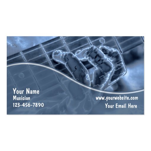 Cartes de visite de guitare modèle de carte de visite