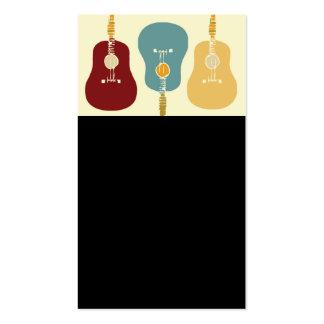 Cartes de visite de guitares - noir carte de visite standard