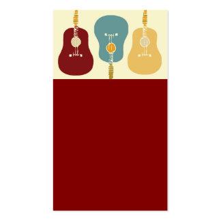 Cartes de visite de guitares - rouge carte de visite standard