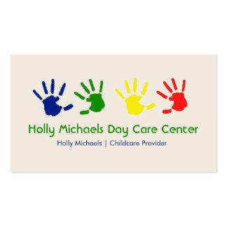 Cartes de visite de Handprints de garde/babysitter Modèles De Cartes De Visite