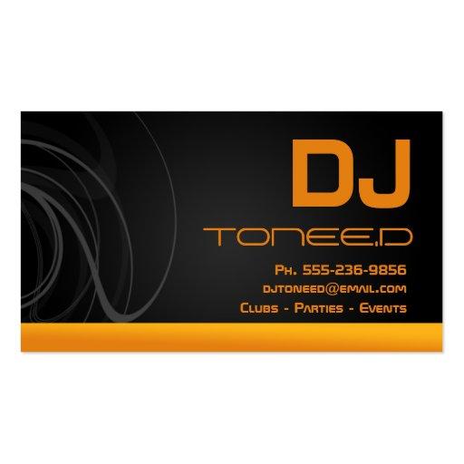 Cartes de visite de jockey de disque du dj oranges cartes de visite personnel - Obligation de visite du locataire ...