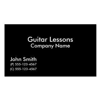 Cartes de visite de leçons de guitare carte de visite standard
