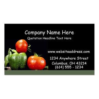 Cartes de visite de légumes carte de visite standard