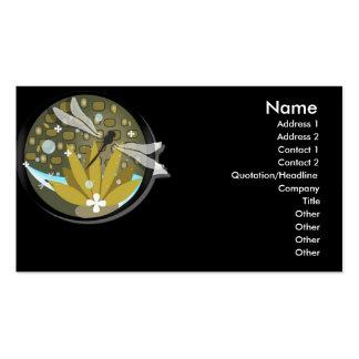 Cartes de visite de libellule carte de visite