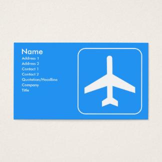 Cartes de visite de ligne aérienne