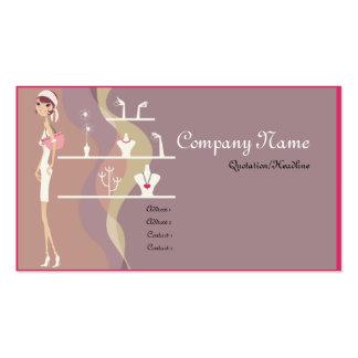 Cartes de visite de Madame Jewelry Shopping Carte De Visite Standard