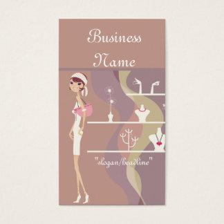 Cartes de visite de Madame Jewelry Shopping Design