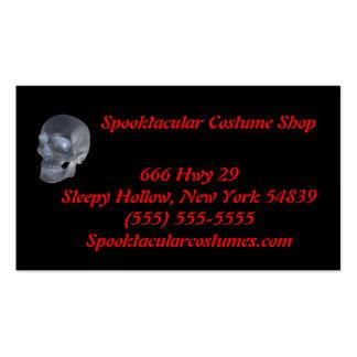 Cartes de visite de magasin de costume carte de visite standard