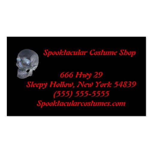 Cartes de visite de magasin de costume cartes de visite professionnelles
