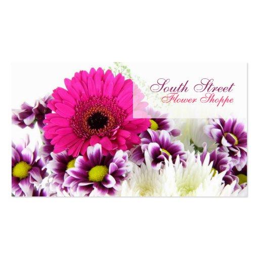 Cartes de visite de magasin de fleur carte de visite