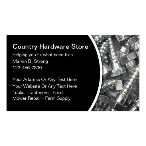 Cartes de visite de magasin de matériel cartes de visite professionnelles