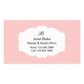 Cartes de visite de maman modèles de cartes de visite