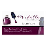 Cartes de visite de maquillage de manucure de vern carte de visite