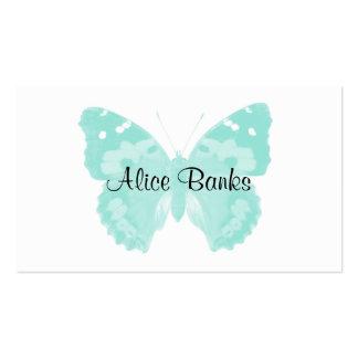 Cartes de visite de maquilleur de papillon d'Aqua Carte De Visite