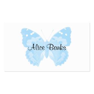 Cartes de visite de maquilleur de papillon de bleu cartes de visite professionnelles