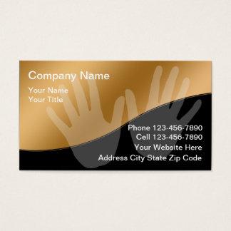 Cartes de visite de massage