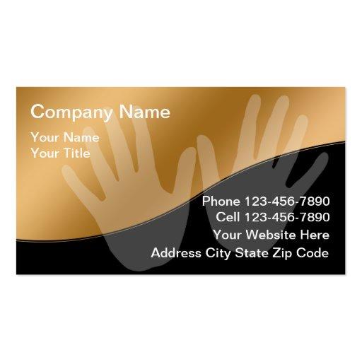 Cartes de visite de massage modèle de carte de visite
