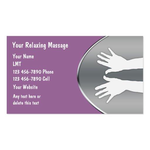 cartes de visite de massage cartes de visite personnelles zazzle. Black Bedroom Furniture Sets. Home Design Ideas