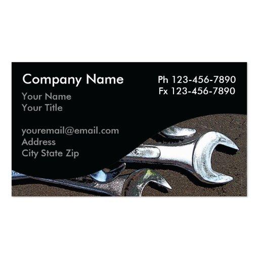 Cartes de visite de mécanicien cartes de visite personnelles
