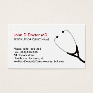 Cartes de visite de médecin ou de soins de santé