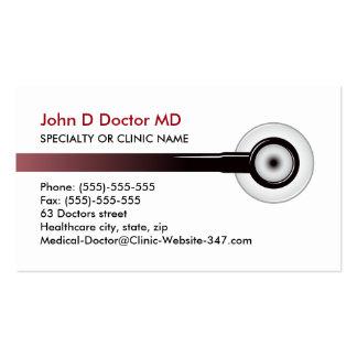 Cartes de visite de médecin ou de soins de santé carte de visite standard