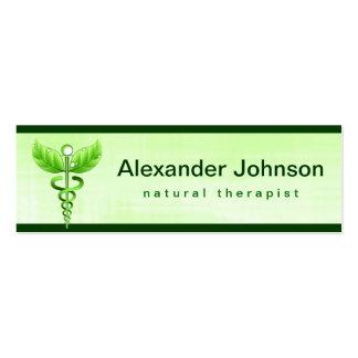 Cartes de visite de médecine douce de caducée carte de visite petit format