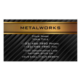 Cartes de visite de métaux ouvrés cartes de visite personnelles