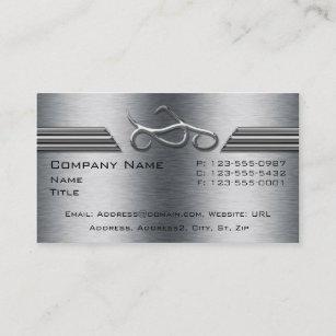 Cartes De Visite Moto Chrome