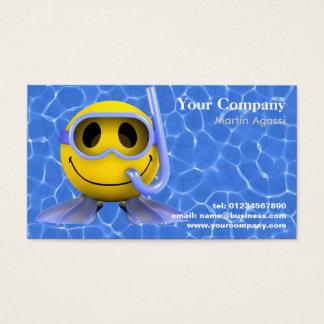 Cartes de visite de natation et de plongée