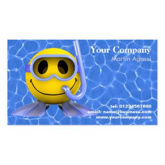 Cartes de visite de natation et de plongée carte de visite standard