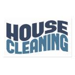 Cartes de visite de nettoyage de Chambre Cartes De Visite Professionnelles
