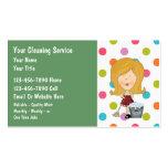 Cartes de visite de nettoyage de Chambre Cartes De Visite Personnelles