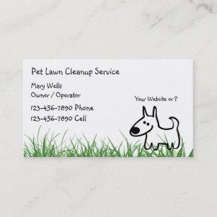 Cartes De Visite Nettoyage Pelouse Chien