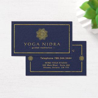 Cartes de visite de Nidra de yoga