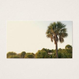 Cartes de visite de palmier