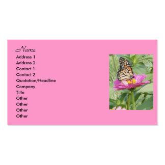 Cartes de visite de papillon, carte de visite standard