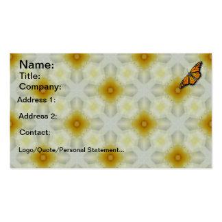 Cartes de visite de papillon de monarque carte de visite standard