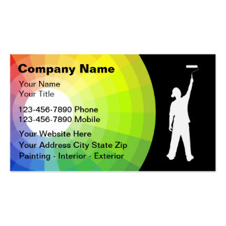 Cartes de visite de peintre carte de visite