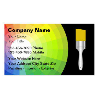 Cartes de visite de peintre carte de visite standard
