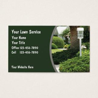 Cartes de visite de pelouse