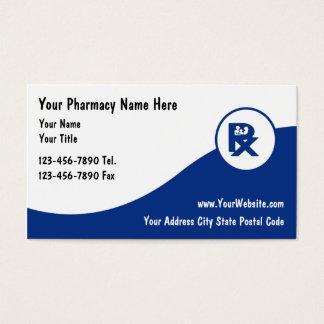 Cartes de visite de pharmacie