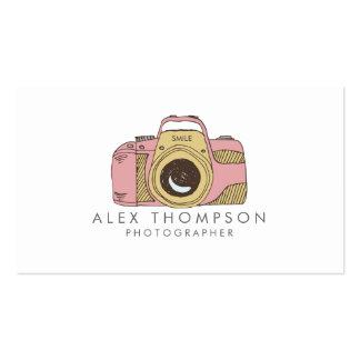 Cartes de visite de photographe d'appareil-photo carte de visite