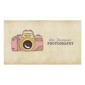 Cartes de visite de photographie d'appareil-photo carte de visite standard