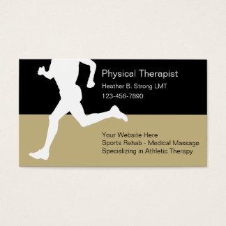 Cartes de visite de physiothérapeute