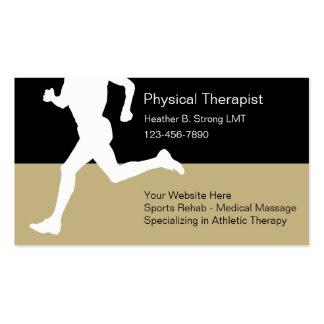 Cartes de visite de physiothérapeute modèles de cartes de visite