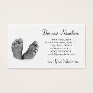 Cartes de visite de pieds de bébé