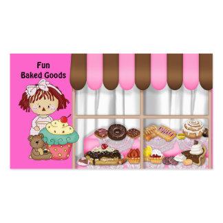 Cartes de visite de poupée de chiffon de pâtisseri modèle de carte de visite