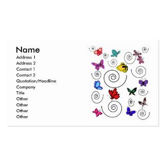 Cartes de visite de remous de papillons carte de visite standard