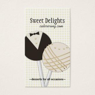 Cartes de visite de restauration de dessert
