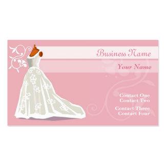 Cartes de visite de robe de mariage cartes de visite professionnelles